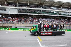 November 17, 2019, Sao Paulo, Sao Paulo, Brazil: Drivers parade before the Formula One 2019 Grand Prix of Brazil at Interlagos circuit, in Sao Paulo, Brazil on November 17. (Credit Image: © Paulo Lopes/ZUMA Wire)