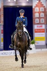 Scholtens Emmelie, NED, Apache<br /> FEI World Cup Dressage - Grand Prix<br /> Jumping Amsterdam 2017<br /> © Hippo Foto - Leanjo de Koster<br /> 27/01/17