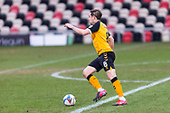 Newport County's Matthew Dolan (8) in action during the EFL Sky Bet League 2 match between Newport County and Salford City at Rodney Parade, Newport, Wales on 16 January 2021.