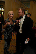 Jason McCue and Mariella Frostrop. Conde Nast Traveller Tsunami Appeal dinner. Four Seasons  Hotel. Hamilton Place, London W1. 2 March 2005. ONE TIME USE ONLY - DO NOT ARCHIVE  © Copyright Photograph by Dafydd Jones 66 Stockwell Park Rd. London SW9 0DA Tel 020 7733 0108 www.dafjones.com