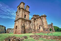 Construido no século XVIII, entre 1735 e 1745, o sítio Arqueológico de São Miguel Arcanjo é um conjunto de ruínas da antiga redução de São Miguel Ancanjo, integrante dos chamados Sete Povos das Missões, e um dos principais vestígios do período das Missões Jesuíticas dos Guarani em todo o mundo. Comumente chamado de ruínas de São Miguel das Missões, é considerado Patrimônio Mundial pelo UNESCO. FOTO: Jefferson Bernardes/Preview.com