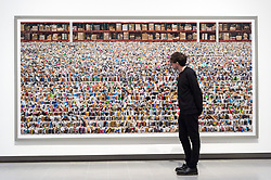 © Licensed to London News Pictures. 24/01/2018. London, UK. Photograph titled Amazon, 2016 by artist ANDREAS GURSKY is on display as part the first major UK retrospective of the German photographer. The showcase also marks the Haywood galleries 50th anniversary following its two year refurbishment. Photo credit: Ray Tang/LNP