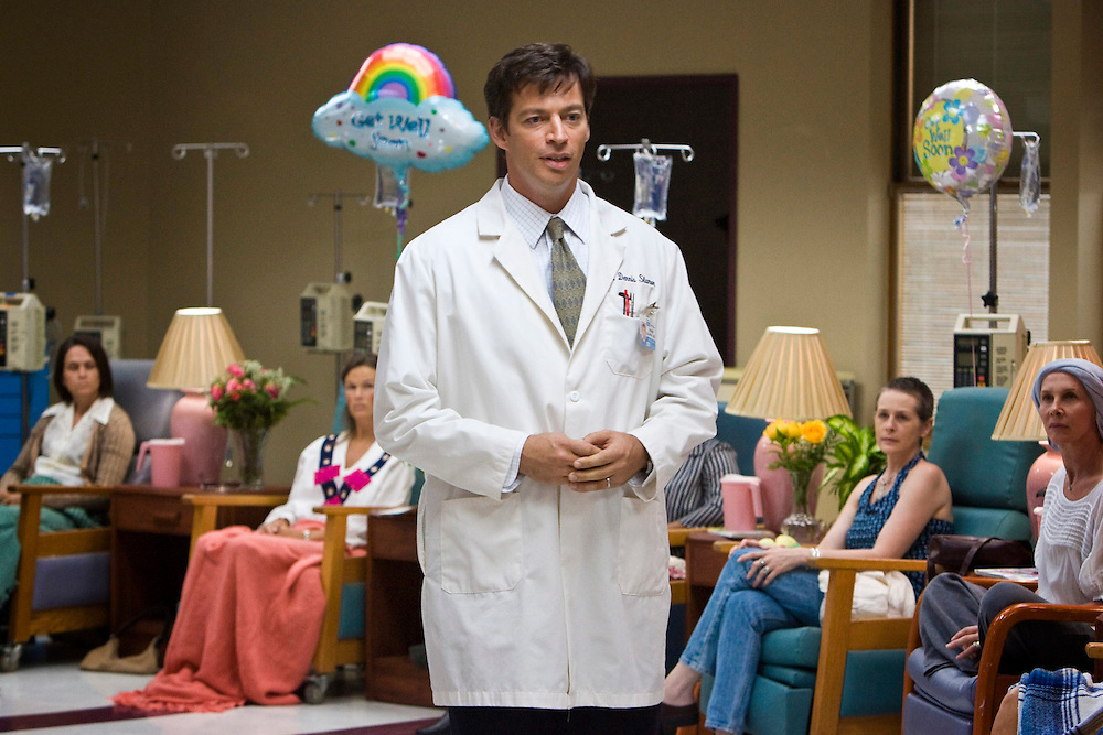 On the first day of the Phase I Herceptin drug trial, Dennis Slamon (Harry Connick, Jr.) welcomes his test subjects in Lifetime Television's 'Living Proof' - the inspiring true story of Dr. Dennis Slamon, a doctor who devoted his life to finding a treatment for breast cancer.