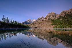 """Sunrise at String Lake, Grand Teton reflection, Grand Teton National Park<br /> <br /> For production prints or stock photos click the Purchase Print/License Photo Button in upper Right; for Fine Art """"Custom Prints"""" contact Daryl - 208-709-3250 or dh@greater-yellowstone.com"""