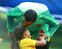 June 21, 2017 - Moscow, Russia - June 21, 2017. Russia, Moscow, Otkritie Arena Stadium. FIFA Confederations Cup 2017. Russia's player  and Portugal's player Cristiano Ronaldo during match between Russia and Portugal (Credit Image: © Russian Look via ZUMA Wire)