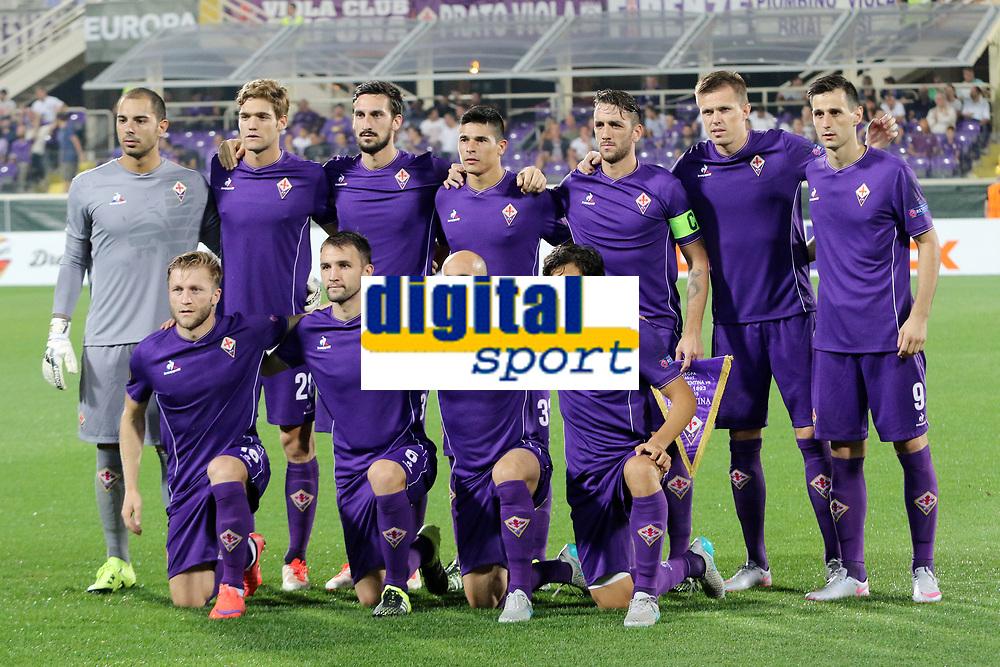 Fiorentina Line Up<br /> Luigi Sepe, Marcos Alonso, Davide Astori, Facundo Roncaglia, Gonzalo Rodriguez, Josip Ilicic, Nikola Kalinic<br /> Jakub Blaszczykowski, Milan Badelj, Iglesias Borja Valero, Mati Fernandez<br /> Firenze 17-09-2015 Stadio Artemio Franchi<br /> Football Calcio Europa League 2015/2016 <br /> Group Stage - Group I <br /> Fiorentina - Basilea / Fiorentina - Basilea (1-2)<br /> Foto Luca Pagliaricci / Insidefoto<br /> Fiorentina captain Davide Astori dies suddenly aged 31 . <br /> Astori was staying a hotel with his team-mates ahead of their game on Sunday away at Udinese when he passed away. <br /> Foto Insidefoto