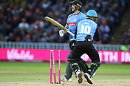Sussex's Luke Wright bowled during the final of the Vitality T20 Finals Day 2018 match between Worcestershire rapids and Sussex Sharks at Edgbaston, Birmingham, United Kingdom on 15 September 2018.