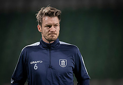 Nikolaj Hansen (FC Helsingør) under opvarmningen til kampen i 1. Division mellem Viborg FF og FC Helsingør den 30. oktober 2020 på Energi Viborg Arena (Foto: Claus Birch).