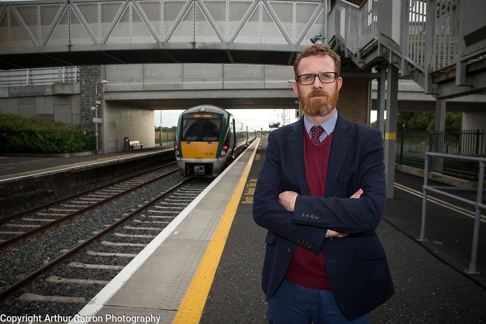 6/8/15 Irish Independent journalist Paul Melia at Hazel Hatch train station in Kildare. Picture:Arthur Carron