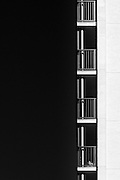 Balconies on an apartment building in Tokyo. Friday November 4th 2016