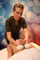 Launch of Royal Caribbean International's newest ship Allure of the Seas..Vitality At Sea Spa. Thai Herbal Poultice Massage.