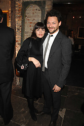 Actor RICHARD COYLE and his wife GEORGIA at a reception to Discover Wilton's Music Hall held at the hall in Graces Alley, London E1 on 5th December 2007.<br />