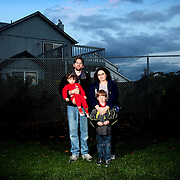 The Spenst family moved to the area from Mansfield, Ohio, in June, due to Mansfield's 25% unemployment rate. A job lead for the mother, Carissa, fell through and the Spensts have been forced to move in with the parents of Brian, the father. Ethan, 8, and Elianna, almost 2, are the children on Tuesday, Nov. 10, 2009.