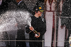 May 25, 2018 - Montecarlo, Monaco - 09 Roberto MEHRI from Spain of MP MOTORSPORT celebrating his podium during the Monaco Formula One Grand Prix  at Monaco on 23th of May, 2018 in Montecarlo, Monaco. (Credit Image: © Xavier Bonilla/NurPhoto via ZUMA Press)