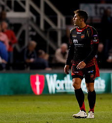 Dragons' Gavin Henson<br /> <br /> Photographer Simon King/Replay Images<br /> <br /> Guinness PRO14 Round 1 - Dragons v Benetton Treviso - Saturday 1st September 2018 - Rodney Parade - Newport<br /> <br /> World Copyright © Replay Images . All rights reserved. info@replayimages.co.uk - http://replayimages.co.uk