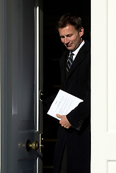© Licensed to London News Pictures. File picture dated 30/04/2012.  Secretary of State for Culture, Olympics, Media and Sport JEREMY HUNT who is to be investigated by the Parliamentary Standards Commissioner over claims he failed to register donations from media firms, it has been announced. Pictured leaving his London home. Photo credit : Ben Cawthra/LNP