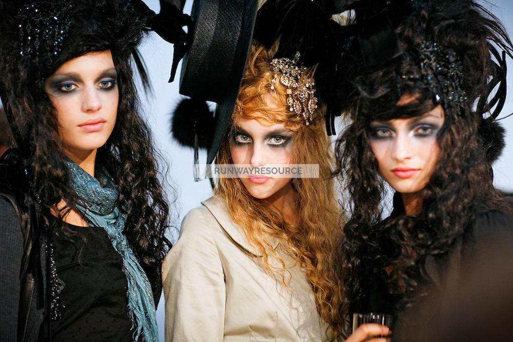 Paulina Nierodzik Backstage at Christian Lacroix Couture Fall 2007