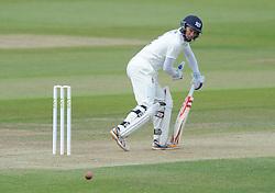 Geraint Jones of Gloucestershire bats the ball behind him - Photo mandatory by-line: Dougie Allward/JMP - Mobile: 07966 386802 - 08/06/2015 - SPORT - Football - Bristol - County Ground - Gloucestershire Cricket v Lancashire Cricket Day 2 - LV= County Championship
