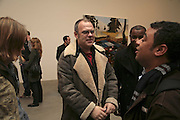 Mathew Collings, Dexter Dalwood, Gagosian Gallery. 14 December 2006. ONE TIME USE ONLY - DO NOT ARCHIVE  © Copyright Photograph by Dafydd Jones 248 CLAPHAM PARK RD. LONDON SW90PZ.  Tel 020 7733 0108 www.dafjones.com