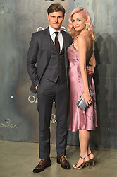 © Licensed to London News Pictures. 26/04/2017. London, UK. OLIVER CHESHIRE and PIXIE LOTT attend the Omega party celebrating 60 Years of the Speedmaster watch. Photo credit: Ray Tang/LNP