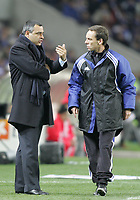 """PORTUGAL - PORTO 28 FEBRUARY 2005: JOSE COUCEIRO FC Porto coach speaks to the fourth referee, in the 23 leg of the Portuguese soccer league """"Super Liga"""" FC Porto (1) vs SL Benfica (1), held in """"Dragao"""" stadium  28/02/2005  20:34:36<br />(PHOTO BY: NUNO ALEGRIA/AFCD)<br /><br />PORTUGAL OUT, PARTNER COUNTRY ONLY, ARCHIVE OUT, EDITORIAL USE ONLY, CREDIT LINE IS MANDATORY AFCD-PHOTO AGENCY 2004 © ALL RIGHTS RESERVED"""