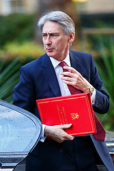 © Licensed to London News Pictures. 21/10/2014. LONDON, UK. Foreign Secretary Philip Hammond attending to a cabinet meeting in Downing Street on Tuesday, 21 October 2014. Photo credit: Tolga Akmen/LNP