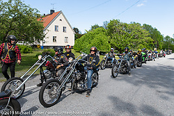 Twin Club ride from their club house in Norrtälje after their annual Custom Bike Show. Sweden. Sunday, June 2, 2019. Photography ©2019 Michael Lichter.