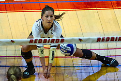 BLOOMINGTON, IL - September 14:  Makenzie Kuchmaner during a college Women's volleyball match between the ISU Redbirds and the University of Central Florida (UCF) Knights on September 14 2019 at Illinois State University in Normal, IL. (Photo by Alan Look)