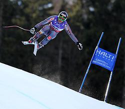 10.02.2011, Kandahar, Garmisch Partenkirchen, GER, FIS Alpin Ski WM 2011, GAP, Herren Abfahrtstraining, im Bild Benjamin Thomsen (CAN) takes to the air competing in the first men's downhill training run on the Kandahar race piste at the 2011 Alpine skiing World Championships, EXPA Pictures © 2011, PhotoCredit: EXPA/ M. Gunn