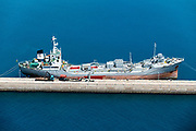 Freighter in the Bridgetown Port, Barbados