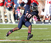 Oct. 22, 2011 - Charlottesville, Virginia - USA; Virginia Cavaliers wide receiver Kris Burd (18) runs the ball during an NCAA football game against the North Carolina State Wolfpack at the Scott Stadium. NC State defeated Virginia 28-14. (Credit Image: © Andrew Shurtlef