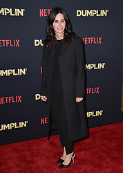 Courteney Cox attends the premiere of Netflix's 'Dumplin'' at TCL Chinese 6 Theatres on December 6, 2018 in Los Angeles, CA, USA. Photo by Lionel Hahn/ABACAPRESS.COM
