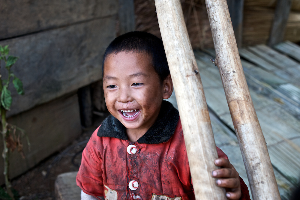 A boy in a remote village called Sapa along the Laotian/Chinese border.