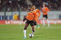 FOOTBALL - FRENCH CHAMPIONSHIP 2009/2010  - L1 - FC LORIENT v OLYMPIQUE MARSEILLE - 16/12/2009 - PHOTO PASCAL ALLEE / DPPI - ARNOLD MVUEMBA (LOR)