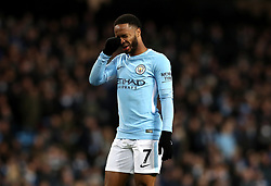 Manchester City's Raheem Sterling appears dejected during the Premier League match at the Etihad Stadium, Manchester.