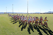 26 OCT 2012: Athletes compete during Mountain West Conference Men's and Women's Cross Country Championships held at the Silver Bowl Park hosted by UNLV in Las Vegas, NV. Brett Wilhelm/NCAA Photos