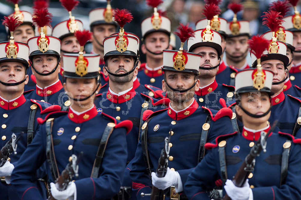 Hispanic day military parade in Madrid