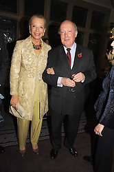 HRH PRINCESS MICHAEL OF KENT and JULIAN FELLOWES at a party to celebrate the publication of 'Past Imperfect' by Julian Fellowes held at Cadogan Hall, 5 Sloane Terrace, London SW1 on 4th November 2008.