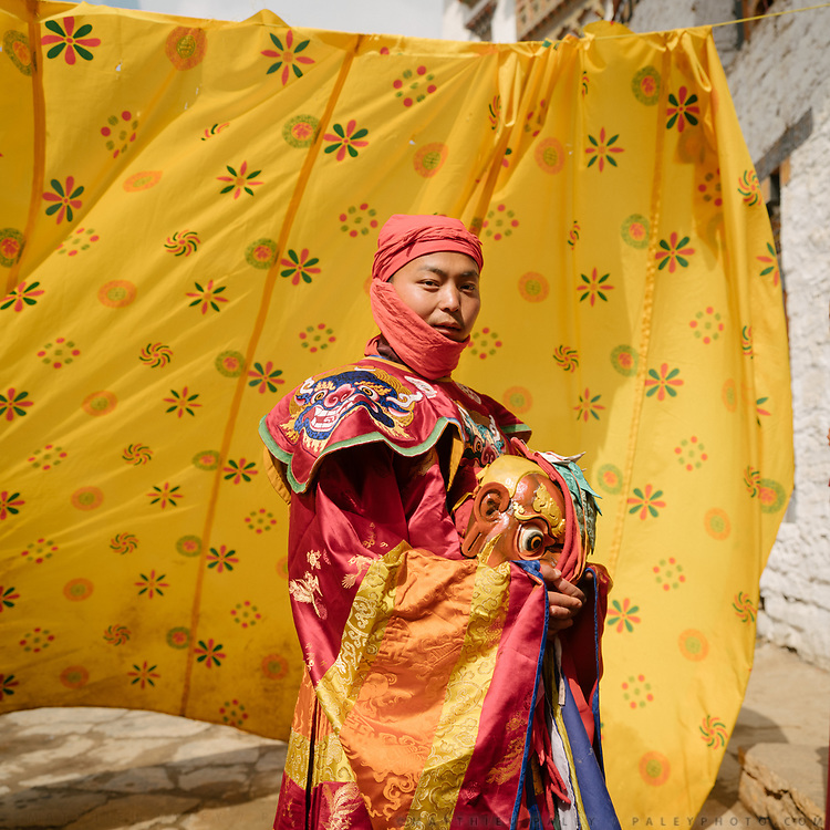 The Tshechu of the Gasa monastery on the road leading to Laya. Tshechu are annual religious Bhutanese festivals held in each district on the tenth day of a month of the lunar Tibetan calendar. Tshechus are large social gatherings, which perform the function of social bonding among people of remote and spread-out villages.