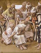 Jacob Mourns his Son Joseph Gouache paint on cardboard by James Tissot  1896-1902