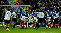 Photo: Gareth Davies.<br />Portsmouth v Everton. The Barclays Premiership. 09/12/2006.<br />Everton captain Alan Stubbs (15) sees his free kick just go over.
