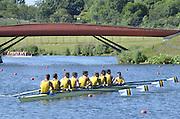 Eton Dorney, Windsor, Great Britain,..2012 London Olympic Regatta, Dorney Lake. Eton Rowing Centre, Berkshire[ Rowing]...Description; AUS M8+  Race start .   10:04:18  Saturday  28/07/2012.[Mandatory Credit: Peter Spurrier/Intersport Images].