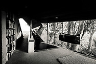 Architecture. Sheats–Goldstein Residence. James Goldstein Residence - John Lautner design. TheSheats–Goldstein Residenceis a home designed and built between 1961 and 1963 by American architectJohn Lautnerin theBeverly Crestneighborhood ofLos Angeles,California. The building was conceived from the inside out and built into the sandstone ledge of the hillside; a cave-like dwelling that opens to embrace nature and view.<br /> <br /> Los Angeles County Museum of Art announced that James Goldstein has entrusted the home and its surrounding estate in a promised gift to the institution. The future endowment includes the home's extensive art collection, original architectural models, and a 1961Rolls-Royce Silver Cloudwhich resides on the property.