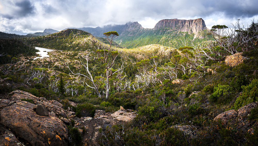 View to Mount Geryon from the Labyrinth Cradle Mountain–Lake St Clair National Park, Tasmania