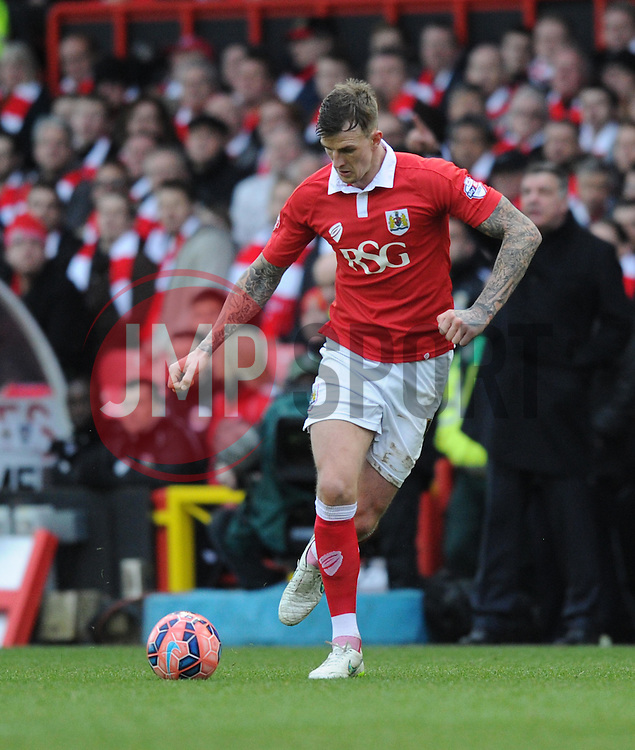 Bristol City's Aden Flint in action during the FA Cup fourth round match between Bristol City and West Ham United at Ashton Gate on 25 January 2015 in Bristol, England - Photo mandatory by-line: Paul Knight/JMP - Mobile: 07966 386802 - 25/01/2015 - SPORT - Football - Bristol - Ashton Gate - Bristol City v West Ham United - FA Cup fourth round