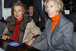File photo - Lilianne Bettencourt, and Claude Pompidou pictured during the 'L'OREAL-UNESCO' prize, in Paris, France, on February 22, 2007. Liliane Bettencourt has died aged 94 it was announced on September 21, 2017. Bettencourt was the richest person in France and the third-richest woman in the world with a net worth of $40 billion. She was the sole heir to L'Oreal, the largest cosmetics company in the world, which was started by her father, and a large shareholder in Nestle. Nearly a decade ago a trial forced Liliane's personal business into the public light, laid bare her obsession with a flashy homosexual photographer whom she turned into a billionaire, destroyed her relationship with her daughter, turned a long time family butler against her, and, finally, turned the dowager heiress into even more of a recluse than she had been before. Photo by Bernard Bisson/ABACAPRESS.COM