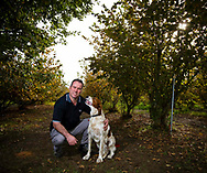 090530-Damon Boorman with truffle dog Shayne at the Wine &Truffle company's Manjimup property today during the opening of the Truffle Season.Pix:Tony McDonough. ©copyright 2009  One Use Only. NO ARCHIVING Truffle in the south west of Western Australia near Mandjimup. Manjimup Truffles, Western Australia