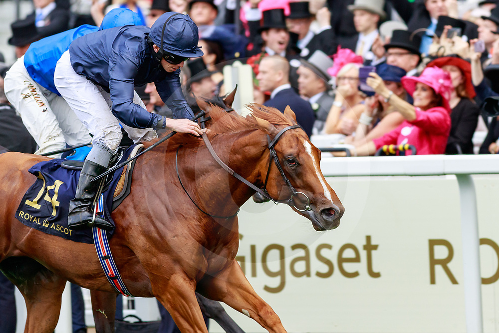 Southern Hills (R. Moore) wins The Windsor Castle Stakes Listed at  Royal Ascot, 19/06/2019, photo: Zuzanna Lupa