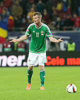 ROMANIA, Bucharest : Northern Ireland's Chris Brunt  during the Euro 2016 Group F qualifying football match Romania vs Northern Ireland in Bucharest, Romania on November 14, 2014.