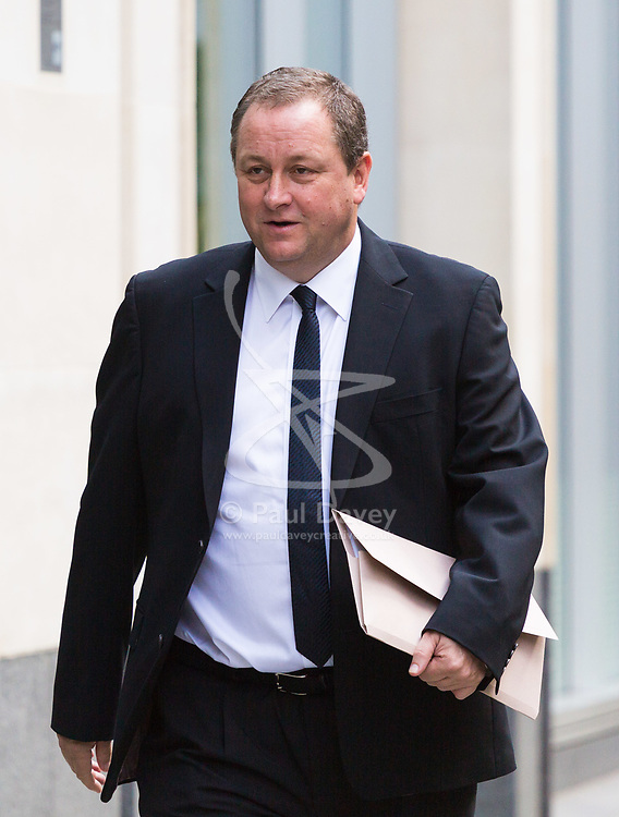 High Court, Rolls Building, London, July 6th 2017 Sports Direct CEO and Newcastle United owner Mike Ashley arrives at the High Court to give evidence in an an action he is fighting, brought against him by Jeffrey Blue, a finance expert, relating to an alleged conversation they had in a pub.